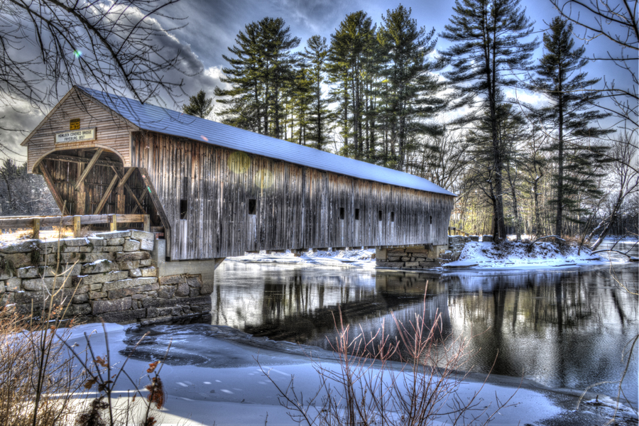 covered bridge by Ed Mercer